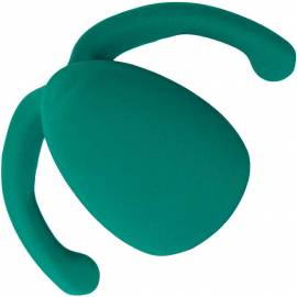 Eva II - Vibrator Verde pentru Cupluri Hands-Free by Dame, Culoare: Verde, image