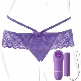 Fantasy for Her Crotchless Panty - Chiloti cu Vibrator si Control Remote