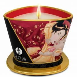 Shunga Soy Based Massage Candle - Sparkling Strawberry Wine, image